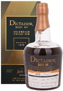 Rum Best OF 1978 Limited Release Dictador