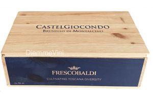 Cassa Legno 2 bt Vuota Usata Castelgiocondo Frescobaldi
