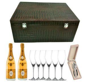 Baule Coccodrillo Champagne Cristal 2008 Louis Roderer