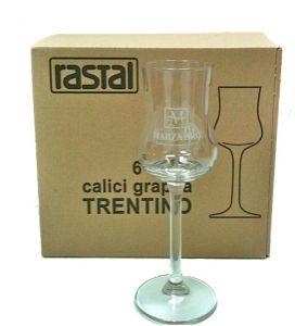 6 Bicchieri Grappa Trentino Marzadro